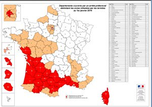 Carte infestation termites HERAULT